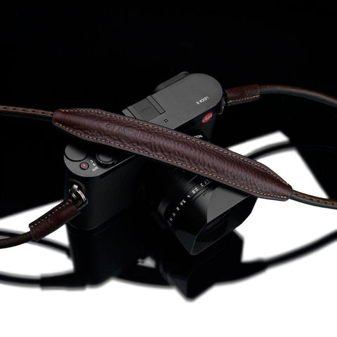 Gariz XS-CSNMBR Medium Size 100cm Genuine Leather Camera Neck Strap for Mirrorless Cameras Brown