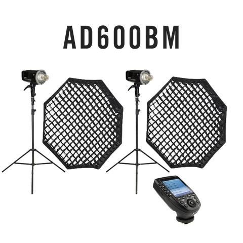 Godox 1200W (2X AD600BM) PORTABLE Studio Flash Lighting Kit