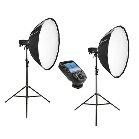 Godox 2 X AD400Pro Witstro Portable Strobe Kit with Strobes, Stands, Softboxes and Trigger