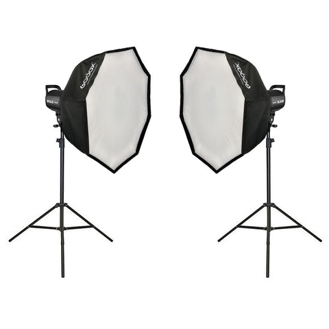 Godox 2 X SL-60W LED Advanced Kit (Including 80cm Collapsible Softboxes and Light Stands)