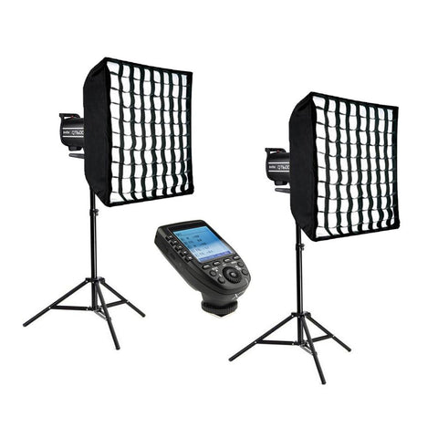 Godox 2x QT600IIM 600W (1200W) HSS Flash Strobe Lighting Kit