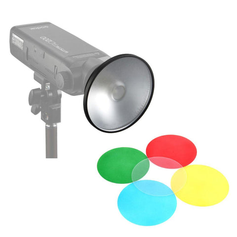 Godox AD-M Mini Standard Reflector with 5 Colour Gels for Witstro AD200