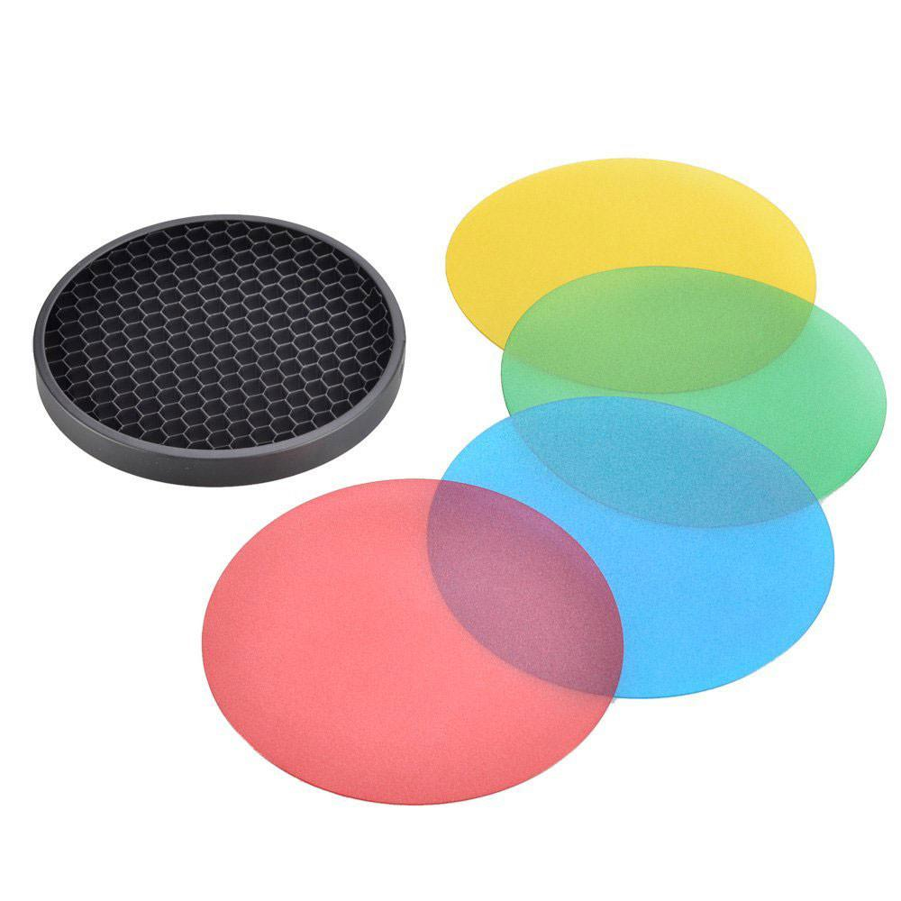 Godox AD-S11 Colour Filter Gel Pack with AD-S12 Honeycomb Grid for Witstro AD360 AD360II AD200