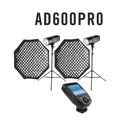 Godox 2x AD600Pro Professional 1200W Portable Studio Flash Lighting Kit