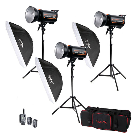 Hypop Rectangle Softbox Boom Arm Kit (Includes: Backdrop Stand & Paper Roll)