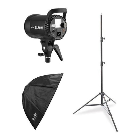 Godox SL-60W LED Starter Kit (Including 80cm Collapsible Softbox and Light Stand)