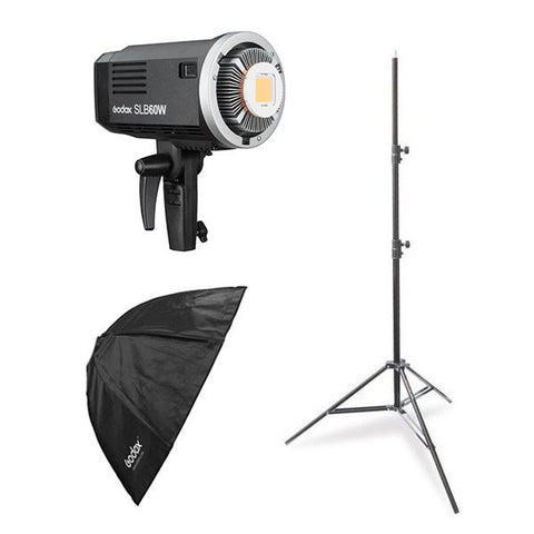 Godox SLB-60W LED Portable Kit (Including 95cm Collapsible Softbox and Light Stand)