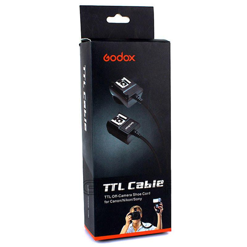 Godox TL-C Off-Camera Flash Light Speedlite TTL Shoe Cord 3M For Canon