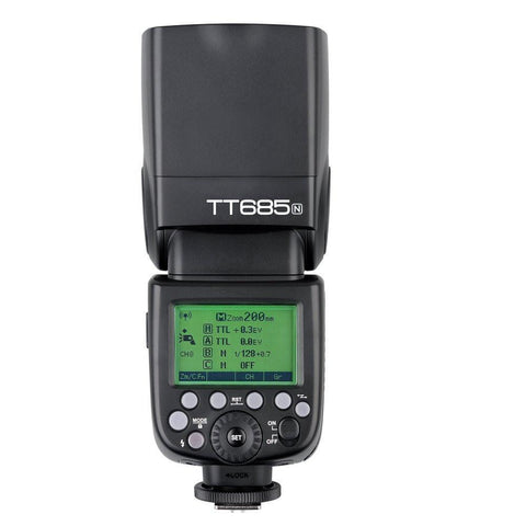 Godox TT685N 2.4GHz i-TTL HSS Speedlite Flash For Nikon