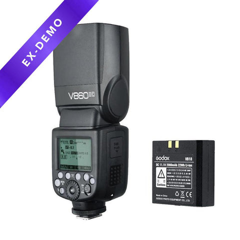 Godox V1-C Round Head Flash for Canon + AK-R1 Accessory Head Kit