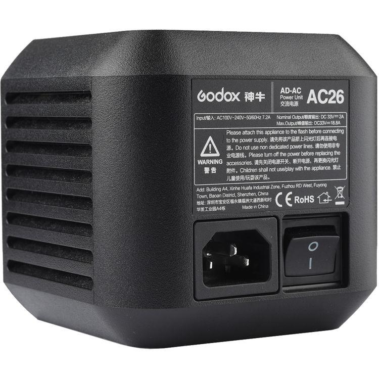 Godox AC26 AC Adapter for AD600Pro Witstro Outdoor Flash