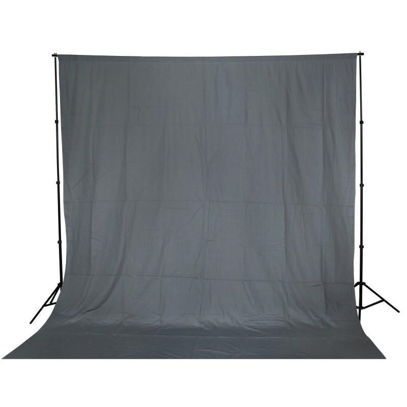WI: 1 x Solid Grey 3M x 3M Cotton Muslin Backdrop