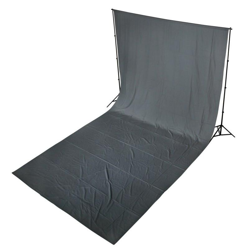 WI: 1 x Solid Grey 3M x 6M Cotton Muslin Backdrop