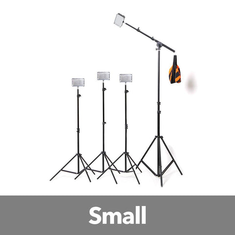 Aputure 4x H198 LED Video Continuous Portable Lighting Kit With Boom (from 1680 lumens at 1m) exclude