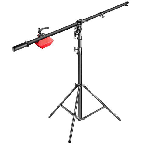 Hypop Heavy Duty Photo Lighting C-Stand with Boom Arm (15kg load)