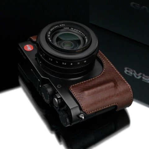 Gariz Leica D-LUX Brown Leather Camera Half Case HG-DLUXBR
