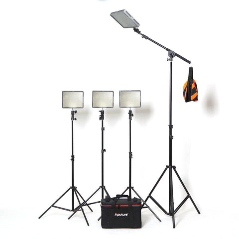 Hypop Professional LED Photo Video Continuous Portable Lighting Boom Kit & Backdrop Set (Large) exclude