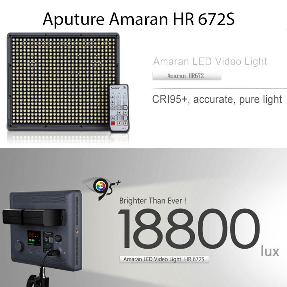 Aputure HR672 W/S/C LED Video Continuous Portable Lighting Kit & Boom