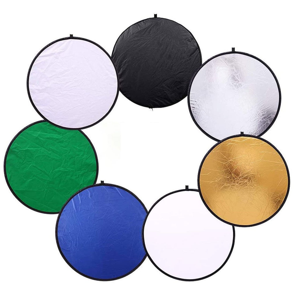 Multi 110cm Collapsible Disc 7-in-1 Photography Studio Light Diffuser Reflector