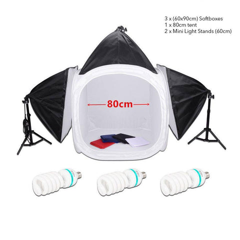 Hypop 80cm Product Photography Lighting Tent Kit