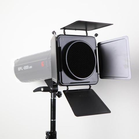 Hypop Barn door and Reflector with Grid and color Gel Kit For Strobe (Bowens Mount)