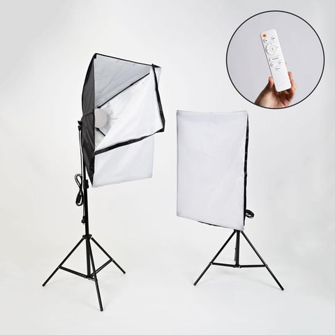 Hypop 'Kreator Kit' Double Rectangle Dimmable LED 3000-6500k Softbox Lighting Kit with Remote
