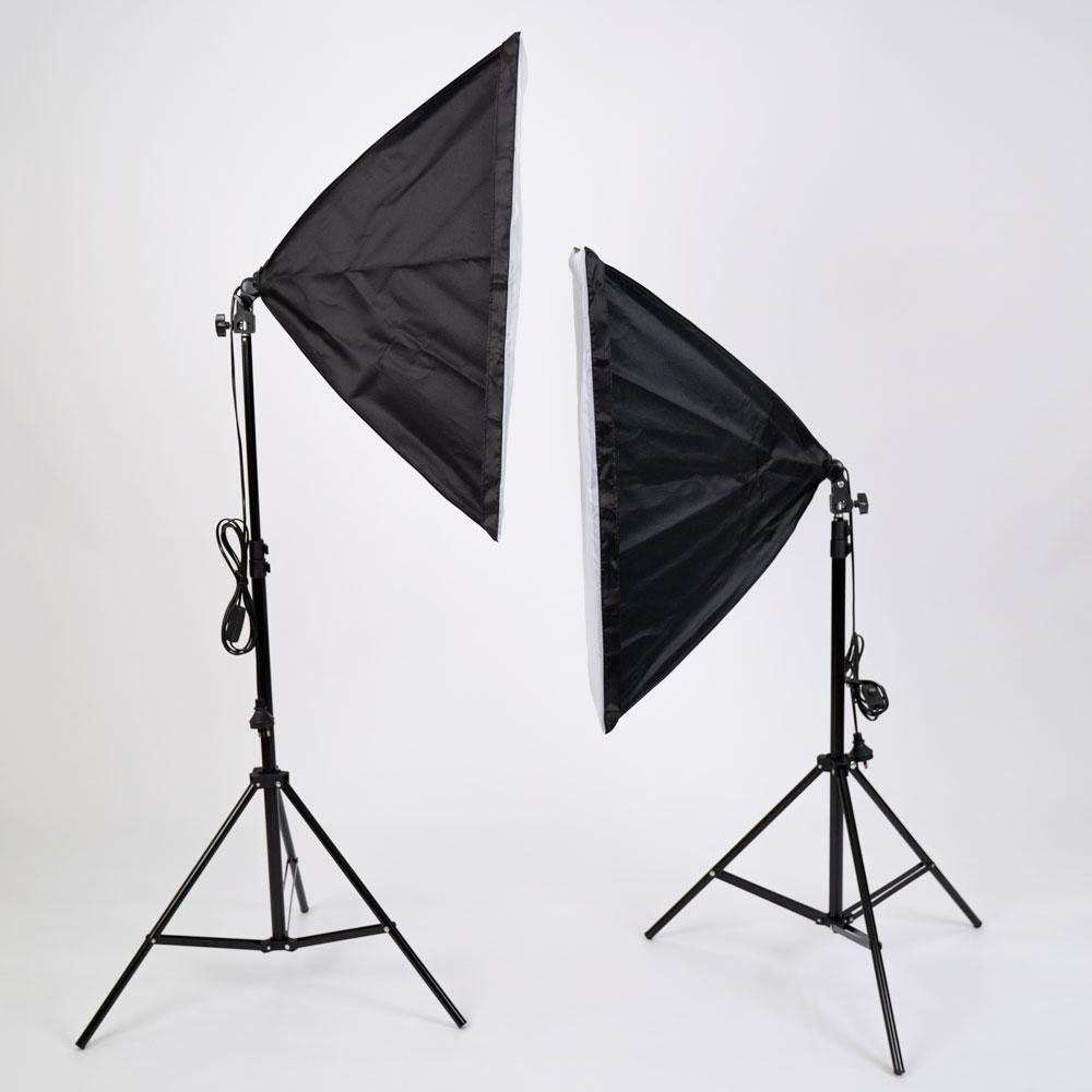 'Kreator Kit' Double Dimmable LED Bi-Coloured Softbox Lighting Kit with Remote