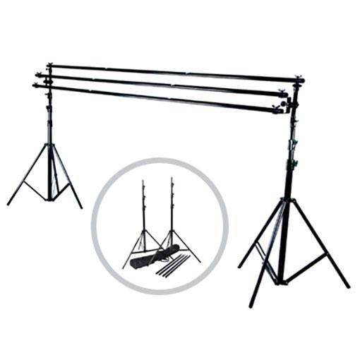 Hypop Heavy Duty Triple Backdrop Stand Support System (3.8 x 4.1m)