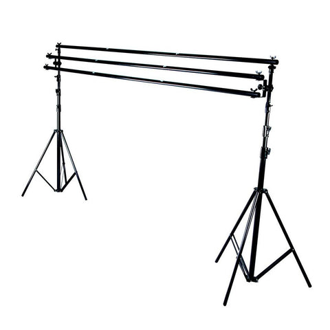 Hypop Backdrop Stand (3.1M x 3.0M) - Heavy Duty 8kg Load Telescopic Pole
