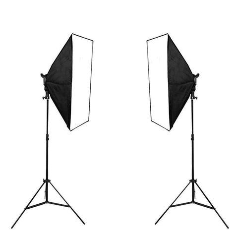 'The Producer Pack' Double Rectangle Dimmable LED Softbox Lighting Kit