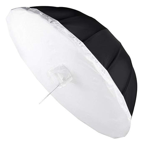 Hypop 180cm Large Parabolic Umbrella Softbox with Diffuser (Black/Silver)