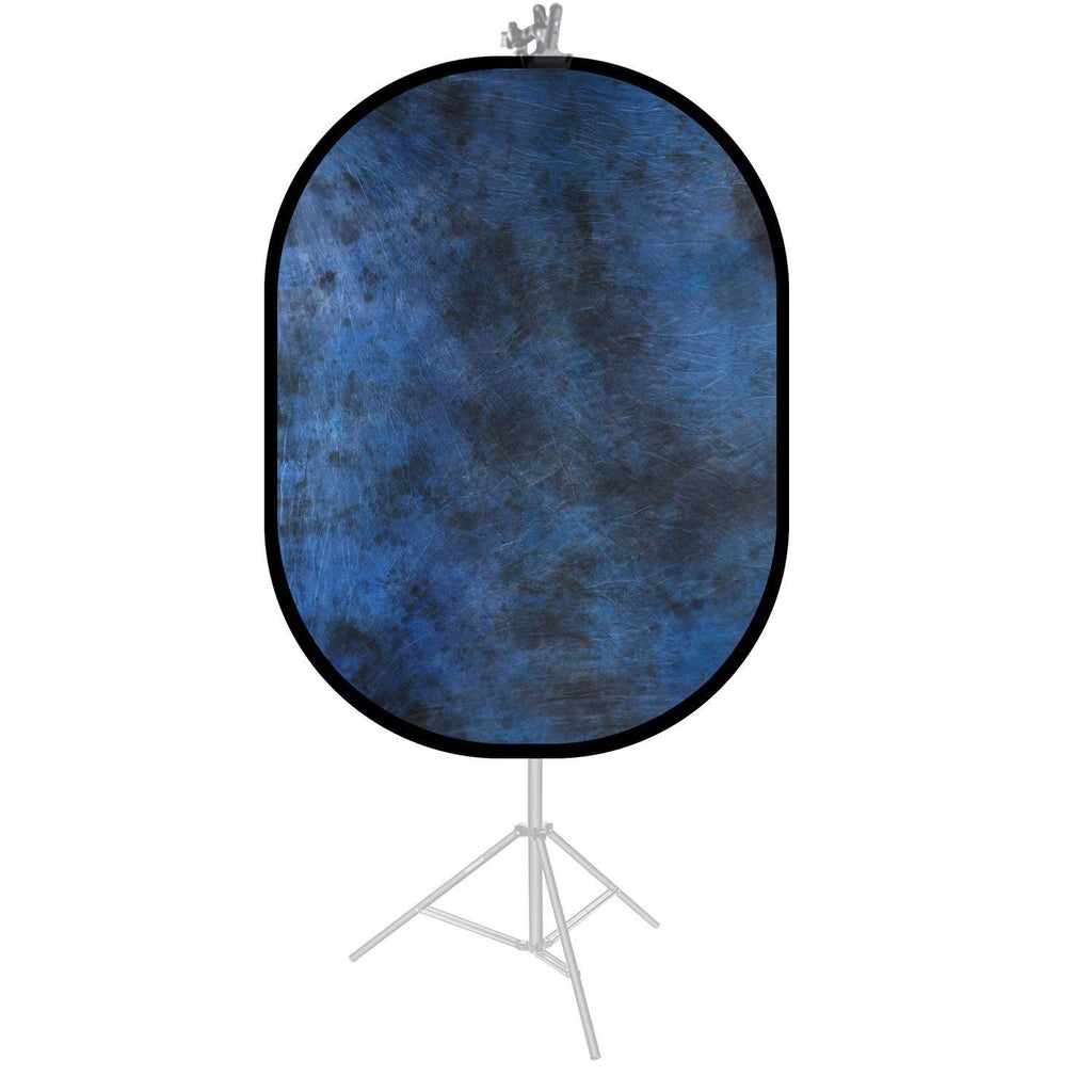 Mottled Blue / Black Double Sided Collapsible Pop Up Backdrop (1.5x2M)