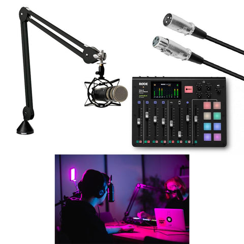 Hypop Professional Level Podcaster Kit (RodeCaster, Procaster, Rode Studio Boom Arm)
