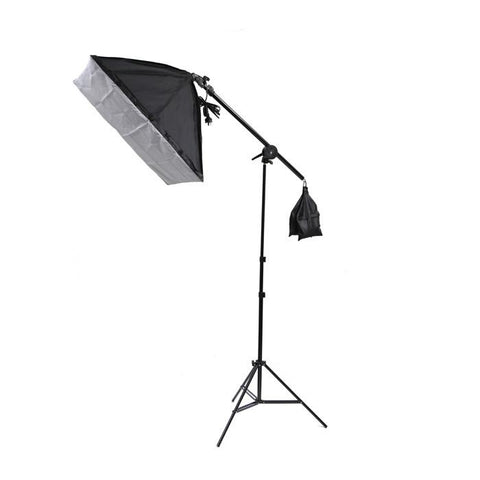 Hypop Single Rectangle Softbox Boom Arm Lighting Set