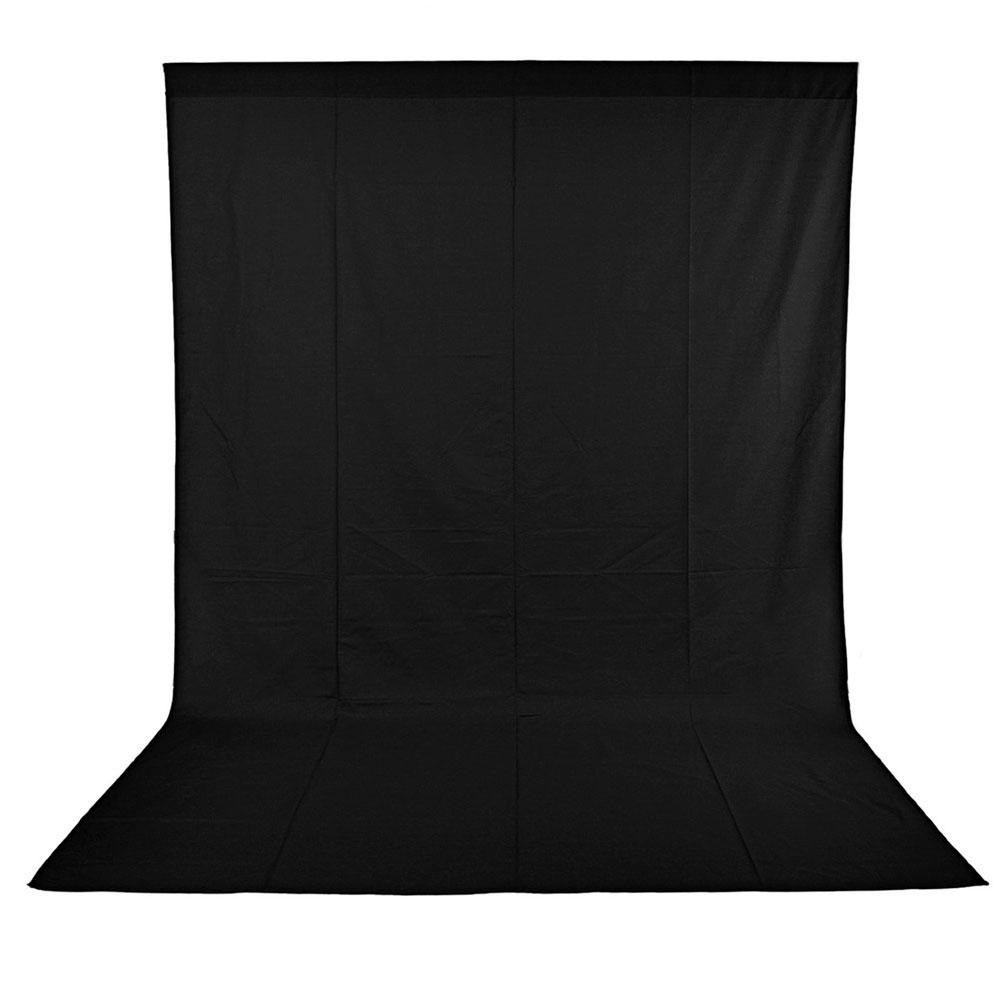 Solid Black 1.8 x 2.8M Cotton Muslin Background