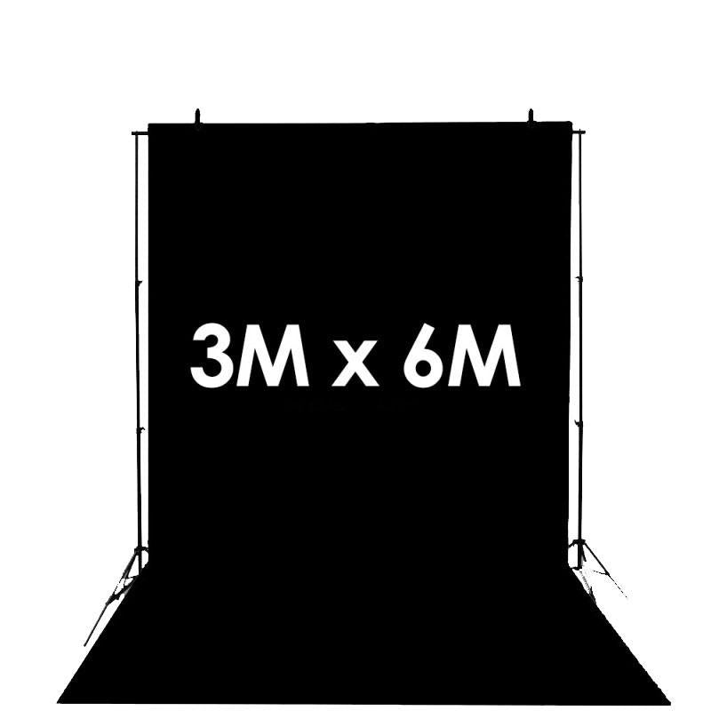 Hypop Black Synthetic Poly Vinyl Roll Backdrop (3M x 6M) exclude
