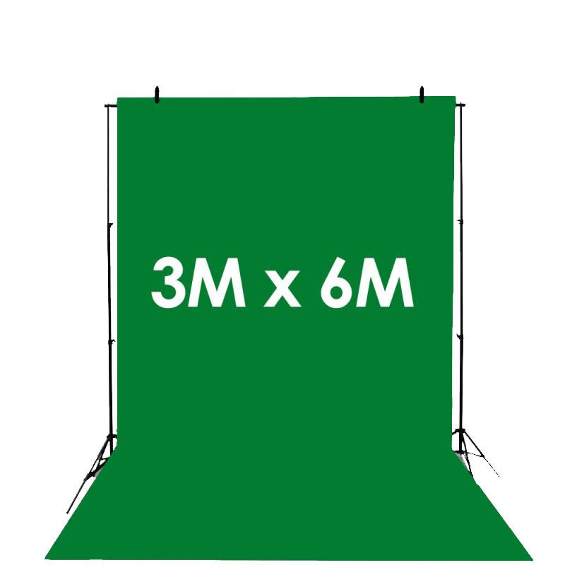Hypop Chroma Key Green Synthetic Poly Vinyl Roll Backdrop (3M x 6M)