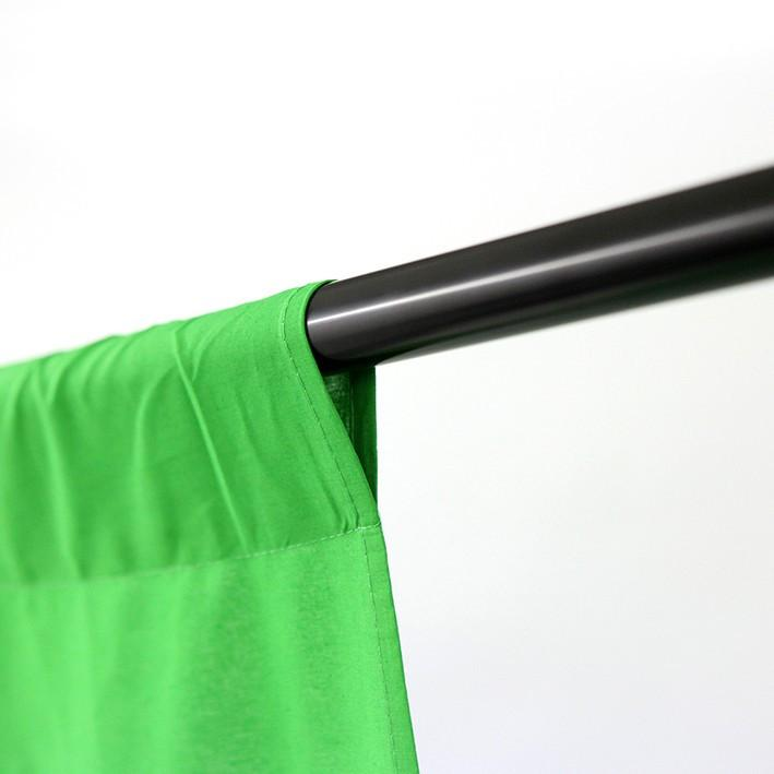Backdrop Stand and Triple Muslin (Black, White & Green) Cotton Backdrop Kit