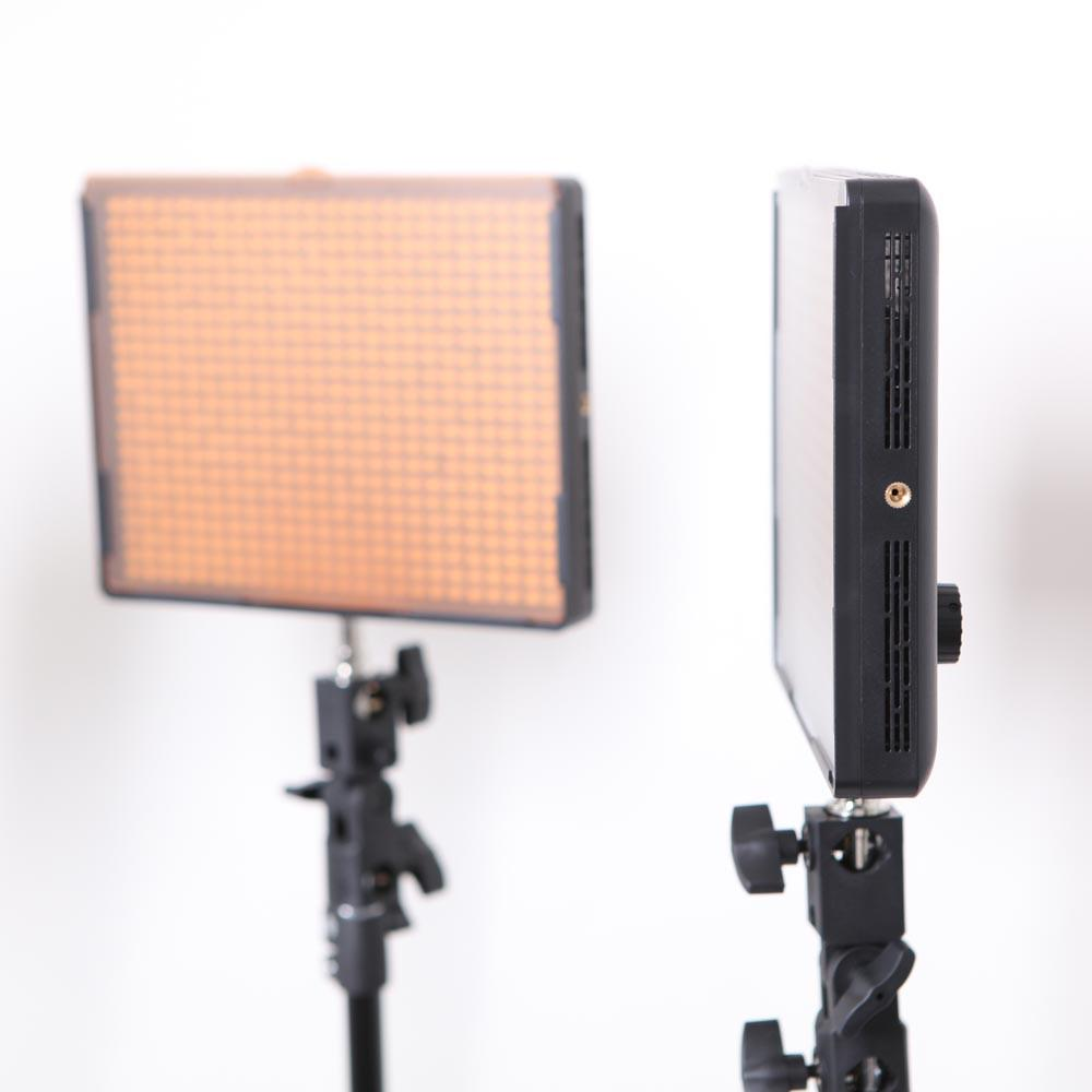 Hypop Professional LED Photo Video Continuous Portable Lighting Boom Kit & Backdrop Set (Medium)