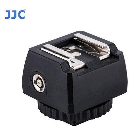 "JJC JSC-9 Hot Shoe Adapter with Cold Shoe Foot and 1/4""-20 Tripod Socket PC Female Outlet"
