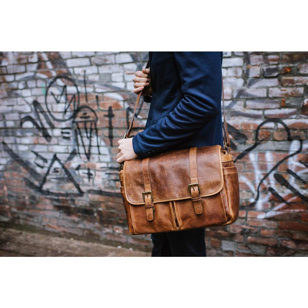 ONA Brixton Camera/Laptop Messenger Bag (Antique Cognac - Leather) ONA5-013LBR