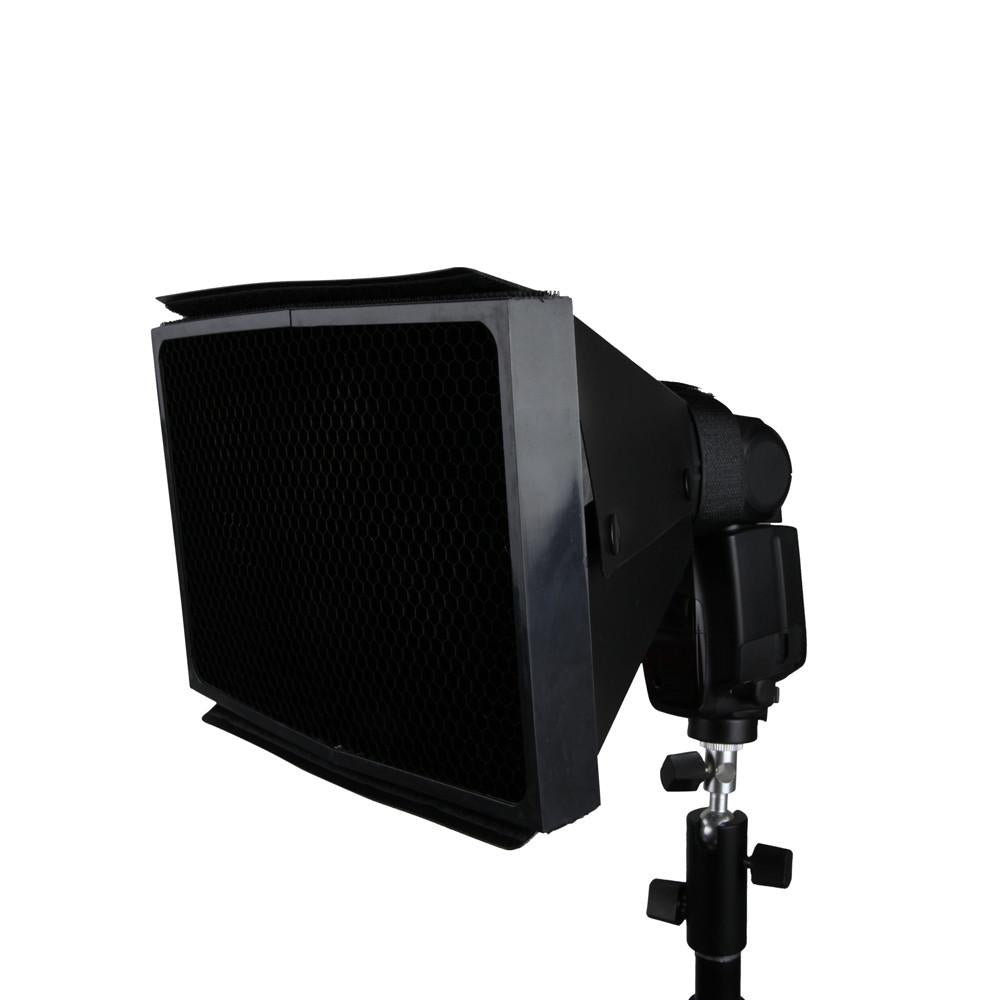 Hypop Rectangular Softbox with 50 Degree Honeycomb Grid for Speedlite Flash(15x20cm) exclude