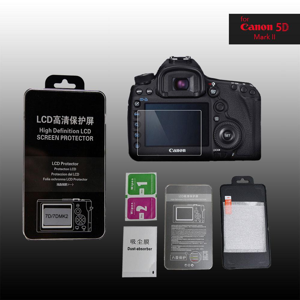 LCD Premium Tempered Glass Screen Protector for Canon 5D2 Mark II