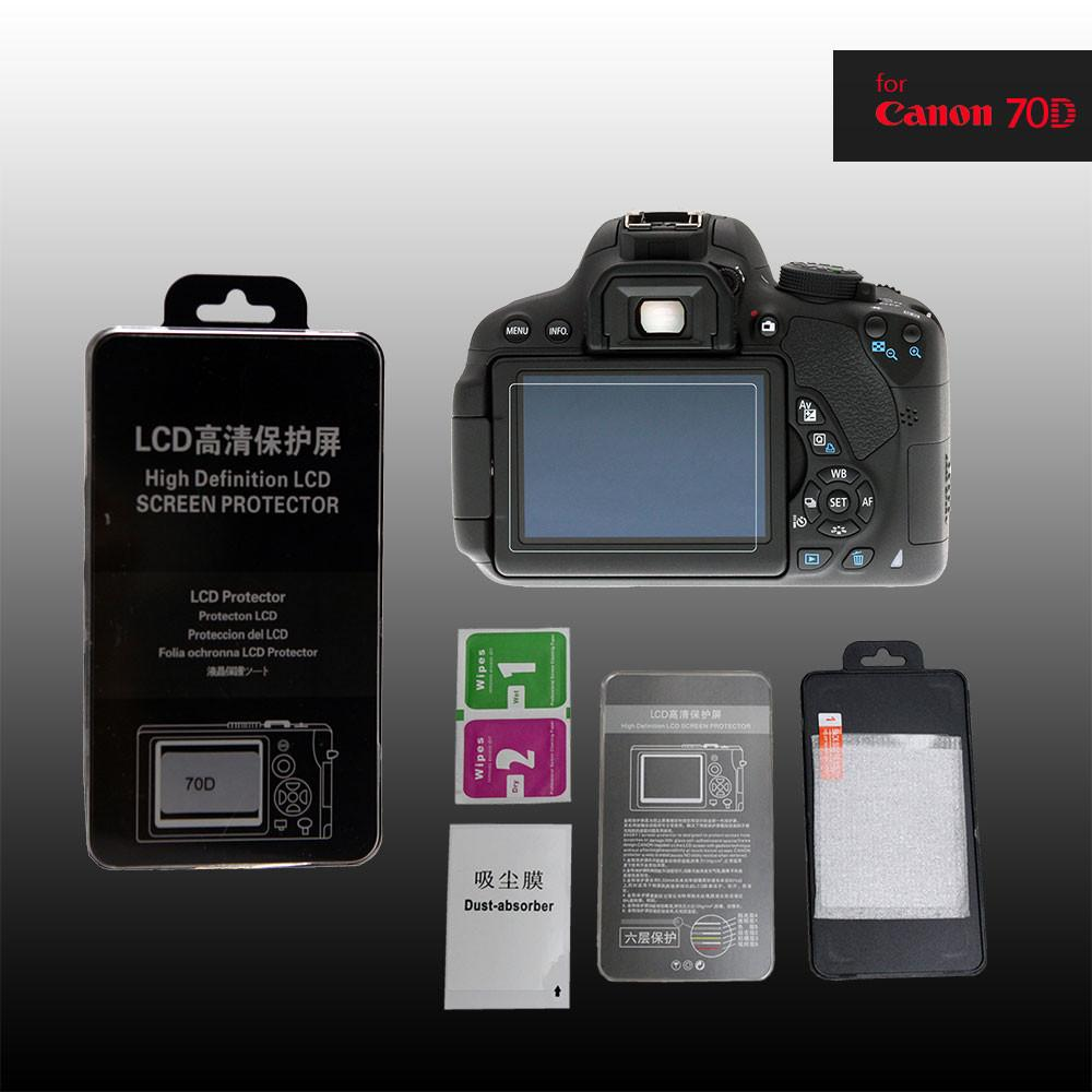 LCD Premium Tempered Glass Screen Protector for Canon 70D
