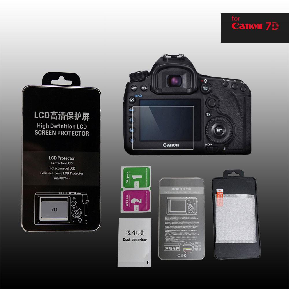 LCD Premium Tempered Glass Screen Protector for Canon 7D