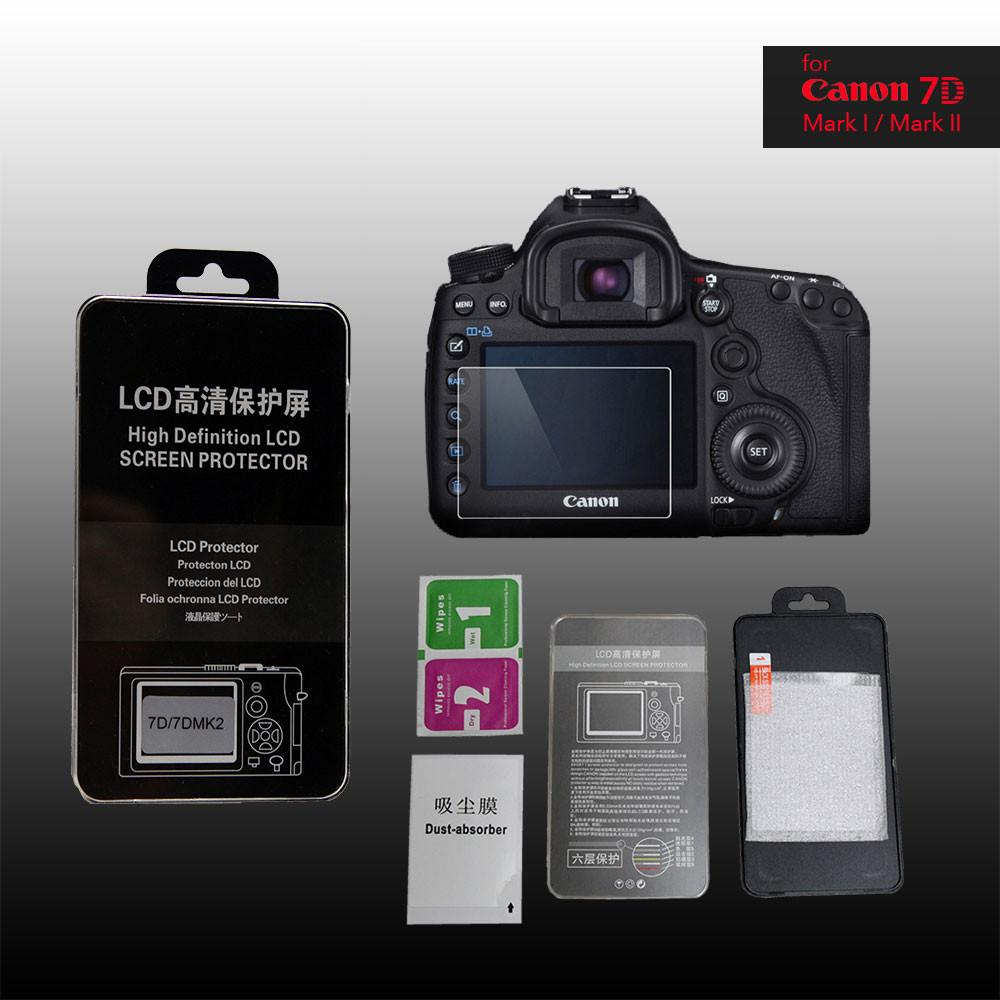 LCD Premium Tempered Glass Screen Protector for Canon 7D2 Mark II