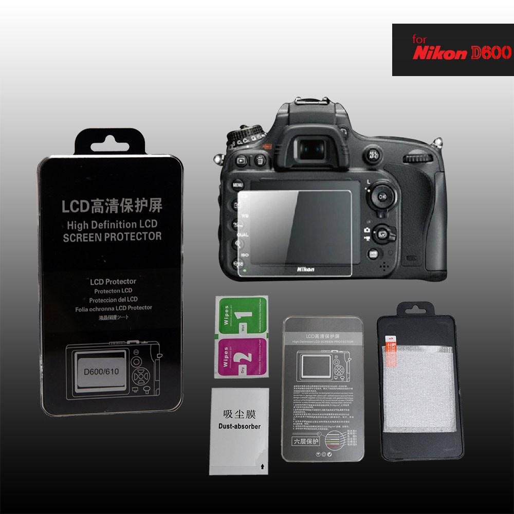 LCD Premium Tempered Glass Screen Protector for Nikon D600