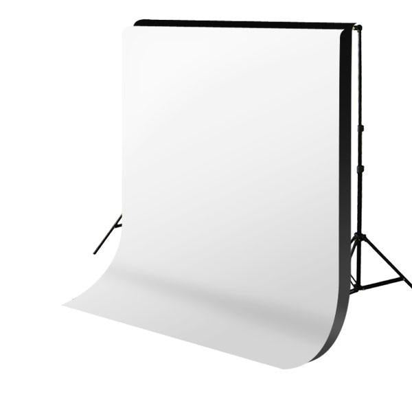 Backdrop Stand & Double Muslin (Black and White) Cotton Backdrop Kit