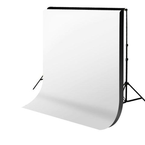 Hypop Backdrop Stand and Double Muslin (Black and White) Cotton Backdrop Kit