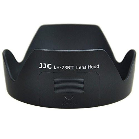 JJC LH-73BII Lens Hood for Canon 17-85mm f/4-5.6 18-135mm f/3.5-5.6 IS EW-73B With Side Window exclude
